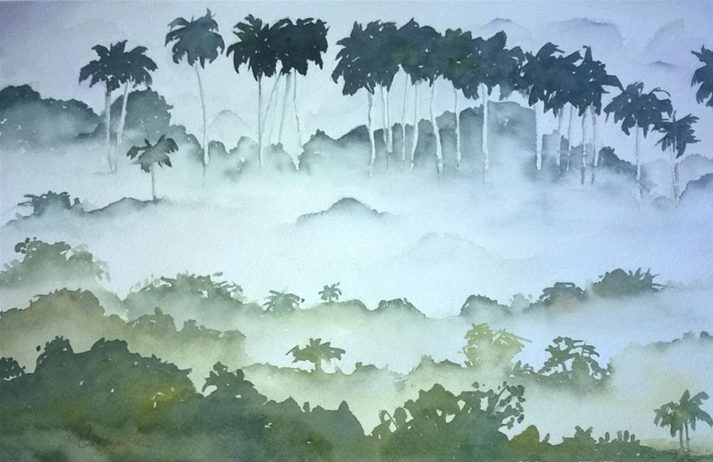 """Cuban fog"" original fine art by Crisynda Buss"
