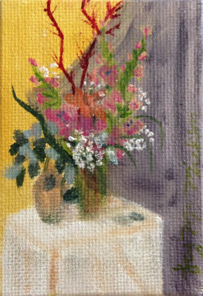 """Victorian Still Life"" original fine art by Joy McMicken"