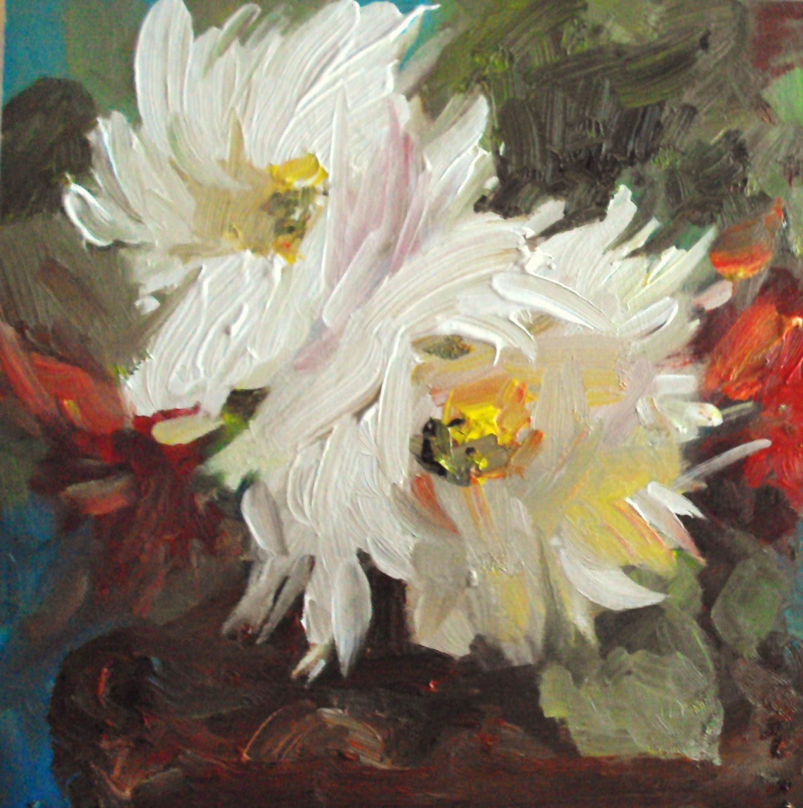 """chrysanthemums"" original fine art by Parastoo Ganjei"