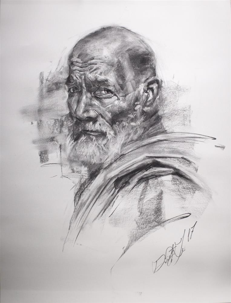 """""""Portrait in Charcoal No. 4"""" original fine art by Dimitriy Gritsenko"""