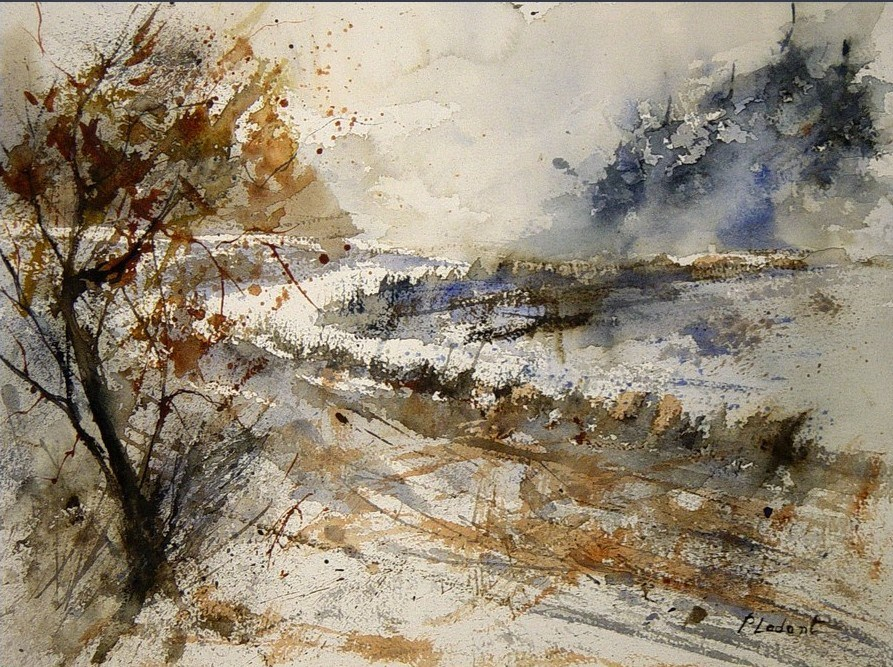 """watercolor 231205"" original fine art by Pol Ledent"