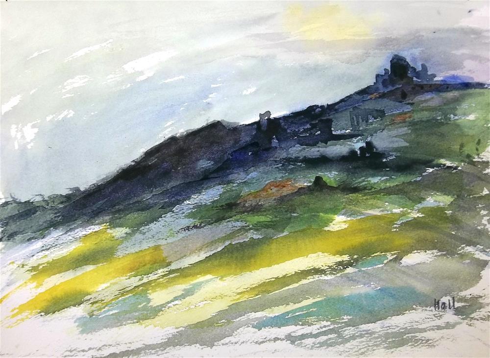 """Castle on a Hill"" original fine art by Nancy Hall"