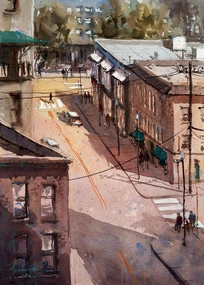 """""""Fraser Street"""" original fine art by Brienne M Brown"""