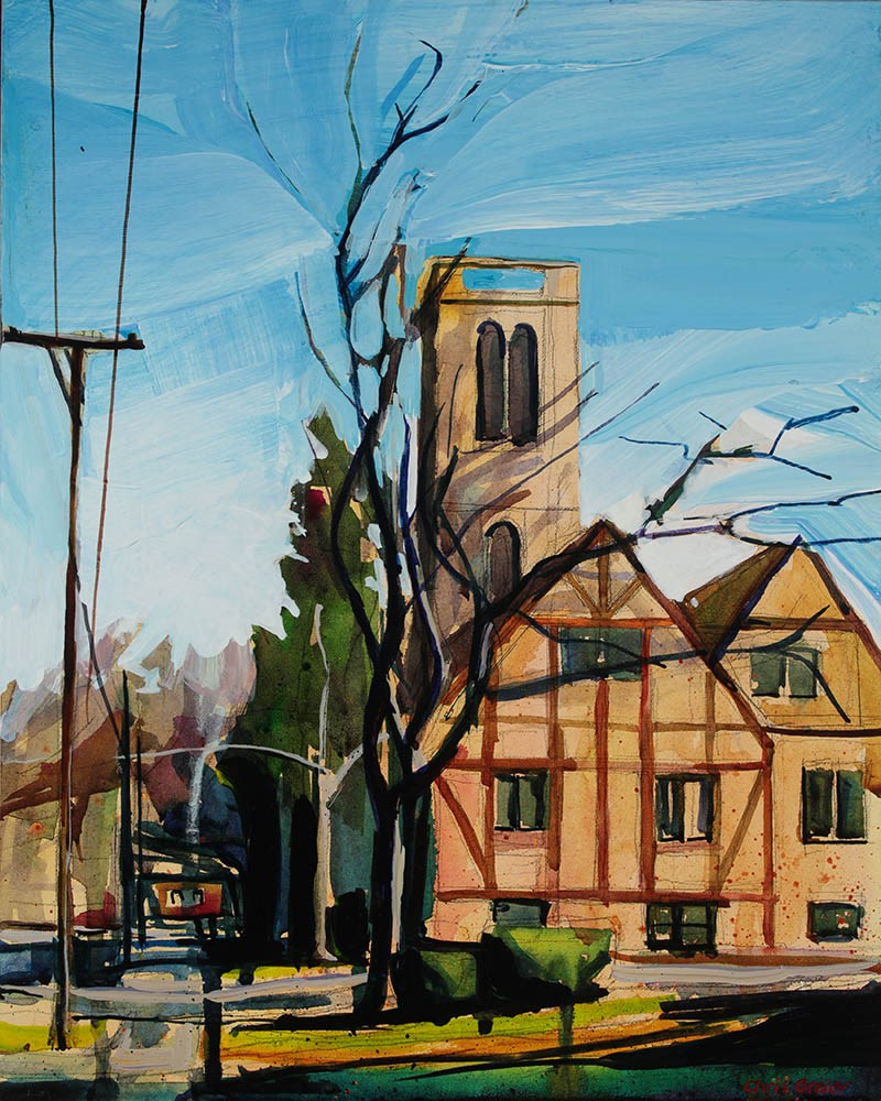 """Chruch on Milton Street"" original fine art by Chris  Breier"