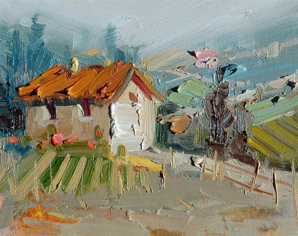 """""""Tuscan Vinyard"""" original fine art by Mahin Gholizadeh"""