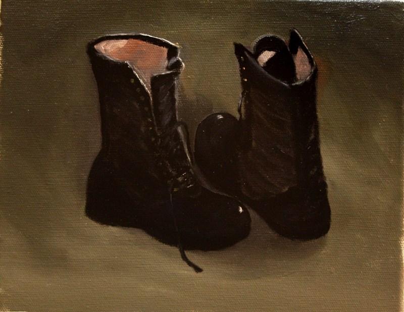 """Off Duty"" original fine art by Mary Datum"