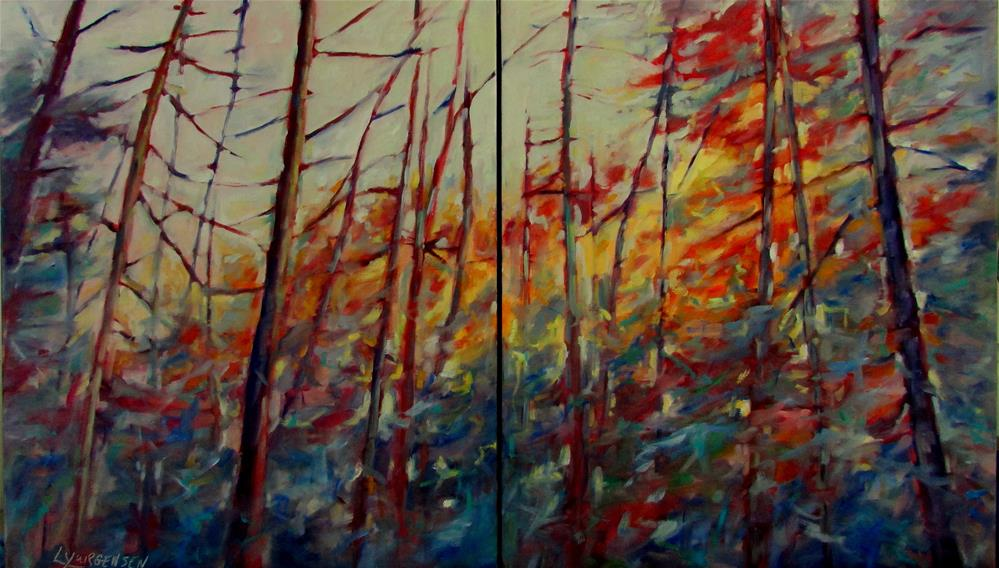 """24 x 40 inch oil"" original fine art by Linda Yurgensen"