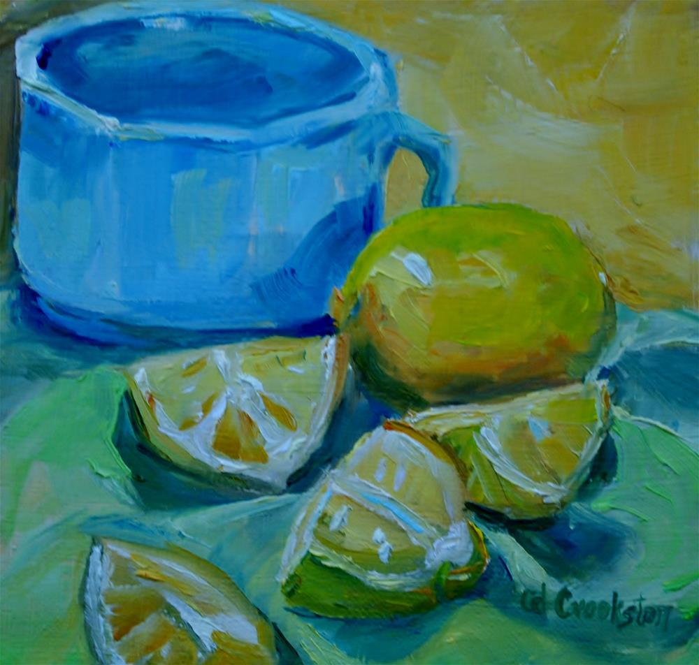 """Cup with Lemons"" original fine art by Catherine Crookston"