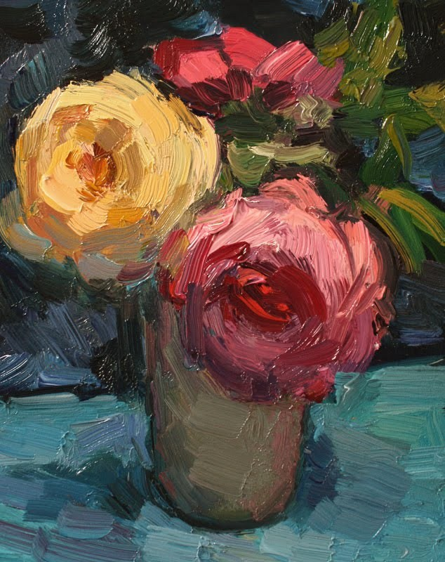 """Today's Roses"" original fine art by Kathryn Townsend"
