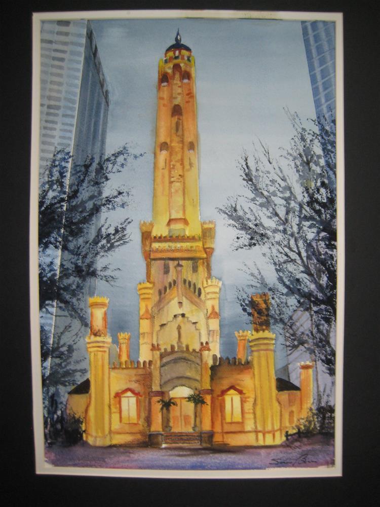 """""""Old Waterpower, Chicago"""" original fine art by Susan Brens"""
