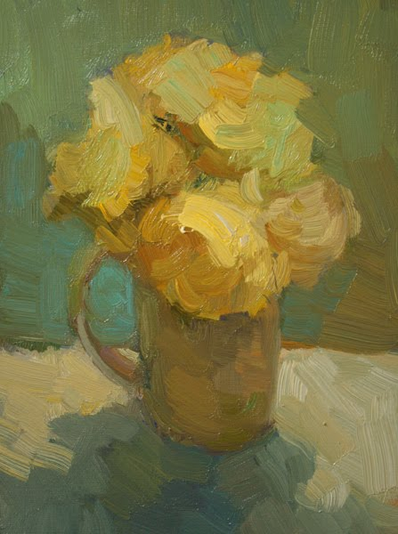 """Yellow Roses"" original fine art by Kathryn Townsend"