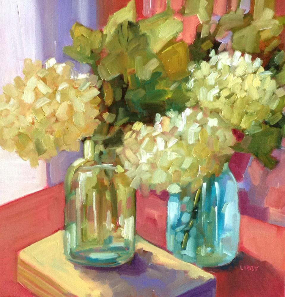 """Library Flowers"" original fine art by Libby Anderson"