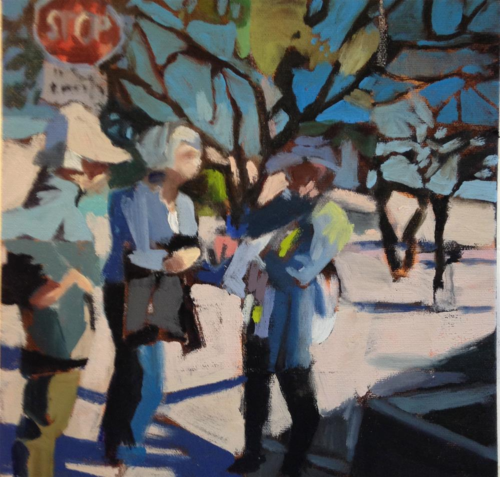 """Stopping To Chat"" original fine art by Pamela Hoffmeister"