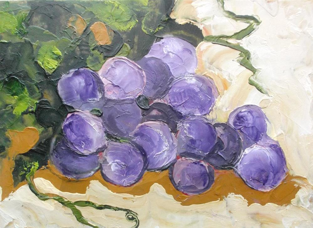 """Garden Grapes"" original fine art by lynne french"