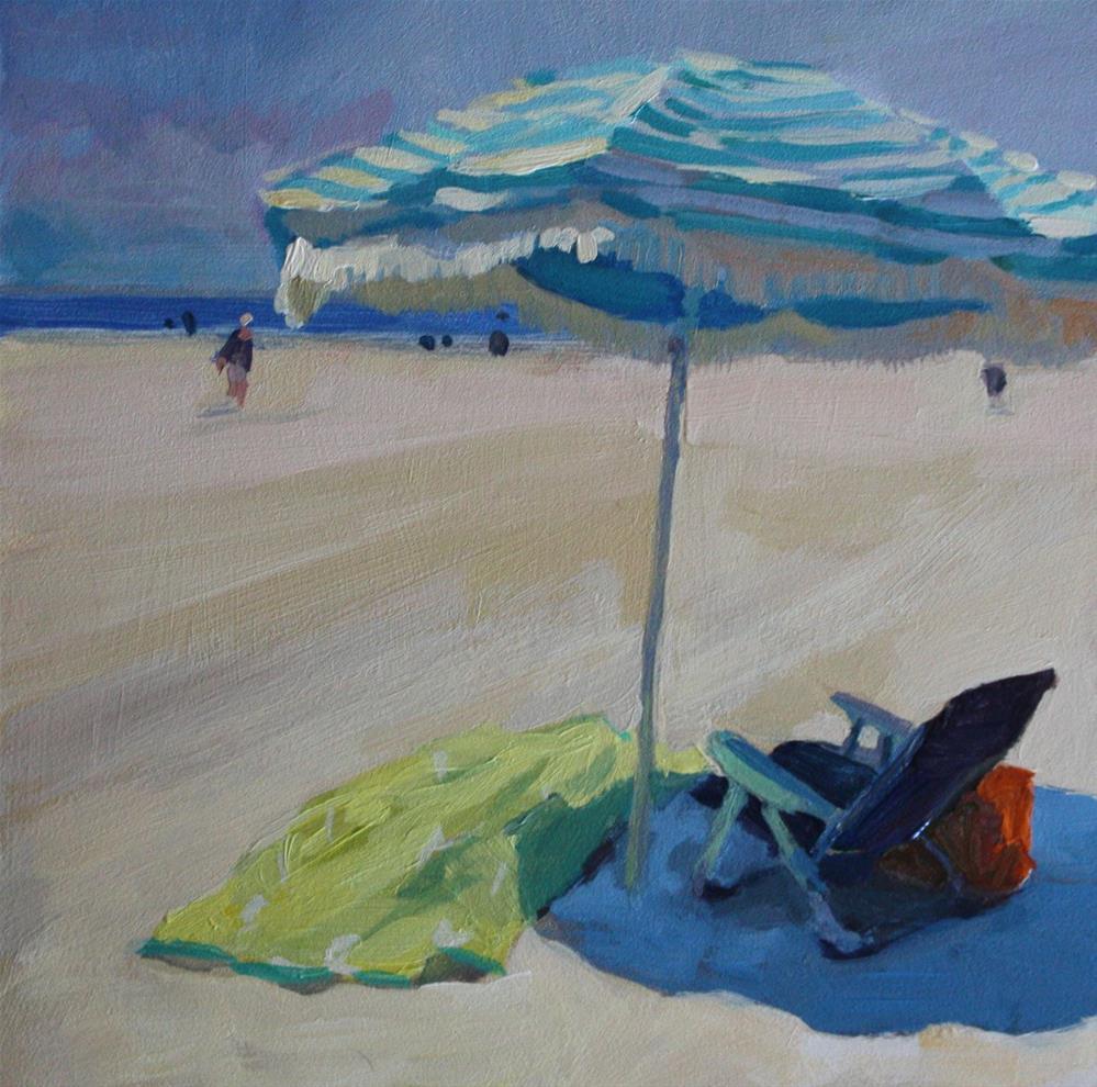 """Striped Umbrella"" original fine art by Kaethe Bealer"
