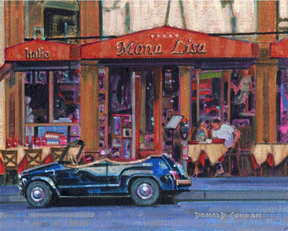 """San Francisco Cafe"" original fine art by Donald Curran"
