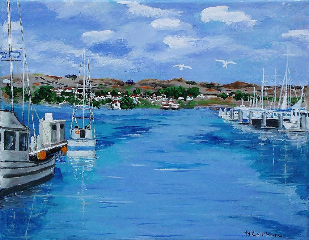 """Bodega Bay From Spud Point Marina"" original fine art by Mike Caitham"
