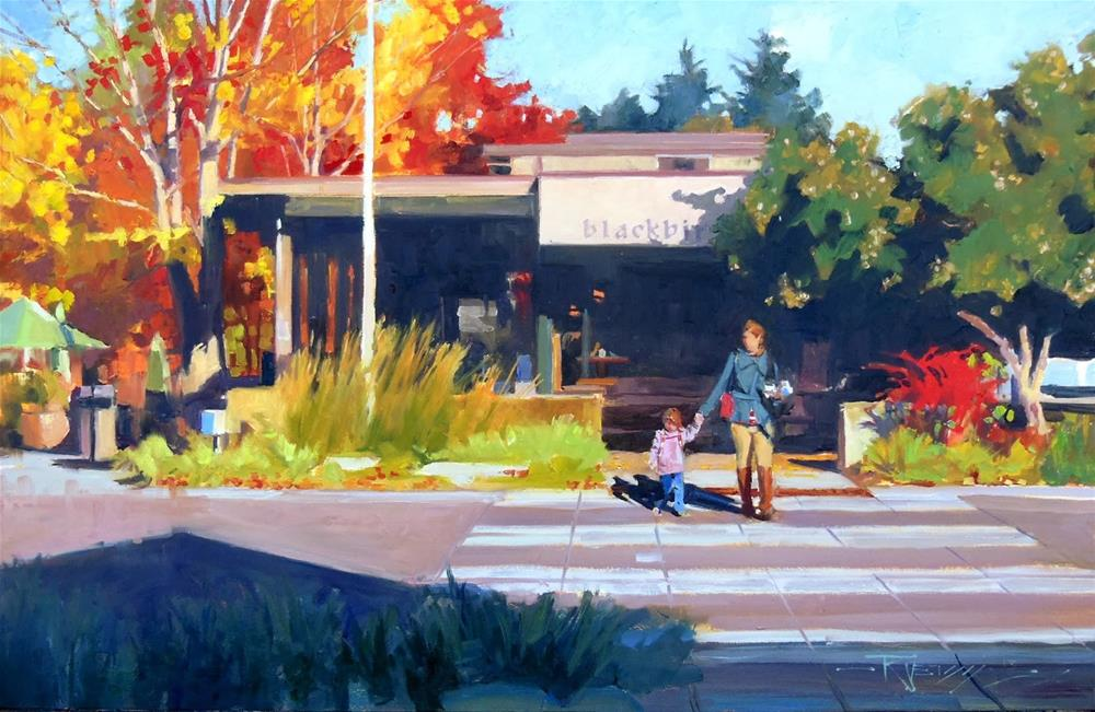 """Blackbird Bakery  Bainbridge Island, oil painting by Robin Weiss"" original fine art by Robin Weiss"