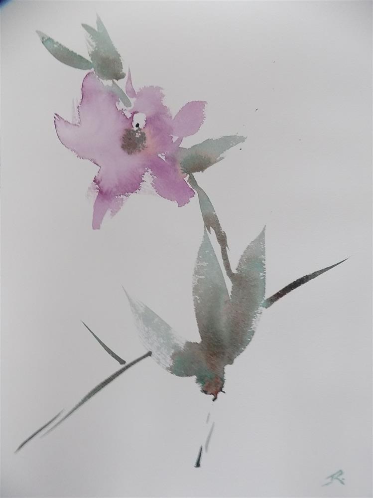 """""""Orchid"""" original fine art by Joan Reive"""