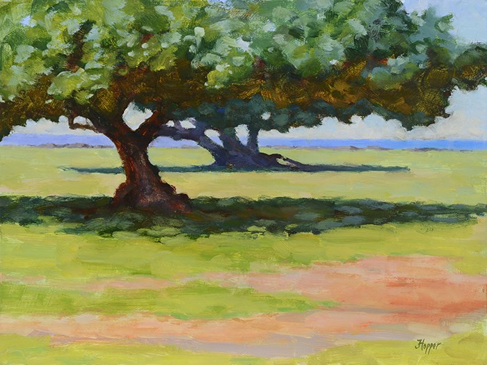 """Hau Trees"" original fine art by Joanne Hopper"