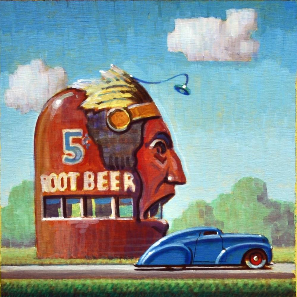 """Root Beer"" original fine art by Robert LaDuke"