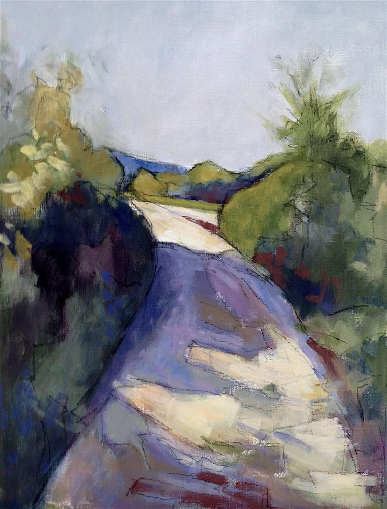 """Pathway Below Roussillon"" original fine art by Patricia MacDonald"