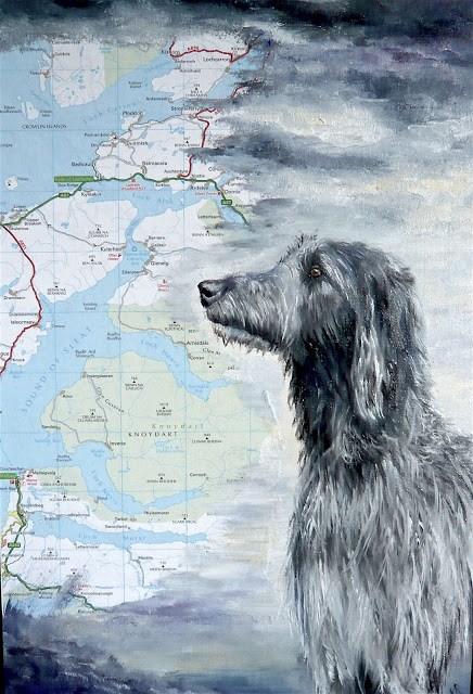 """""""Scottish Deerhound"""" original fine art by Karen Robinson"""