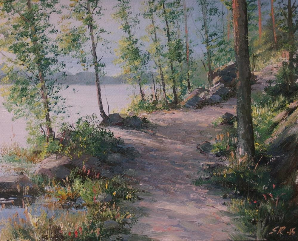 """To the wiewpoint"" original fine art by Stig Rosenlund"