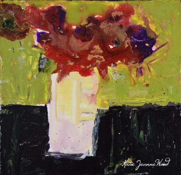 """Floral No 250"" original fine art by Katie Jeanne Wood"