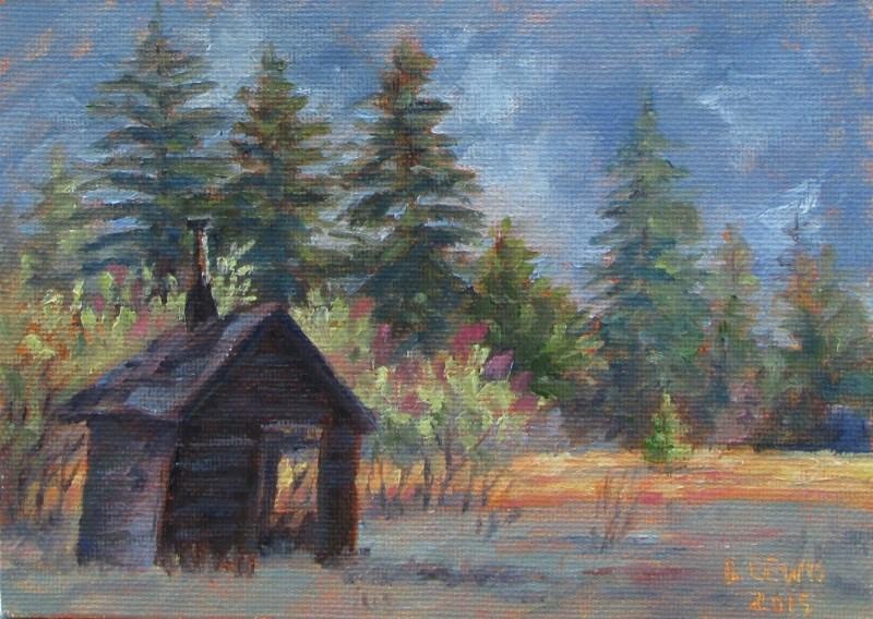 """Brotherhood Cabin"" original fine art by Christine Lewis"