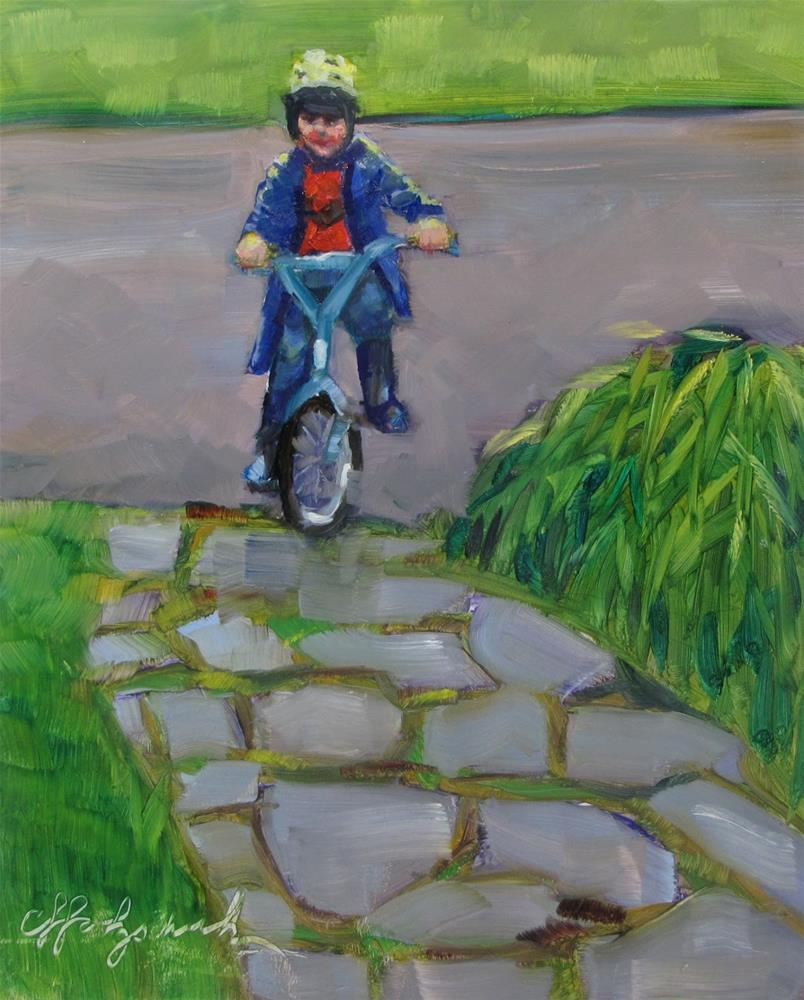 """First Ride"" original fine art by Christine Holzschuh"