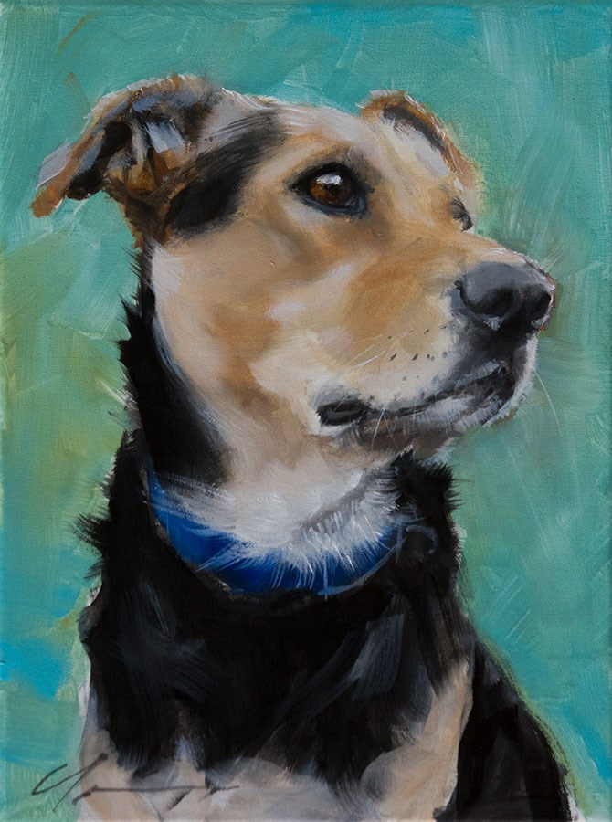 """Scooby"" original fine art by Clair Hartmann"