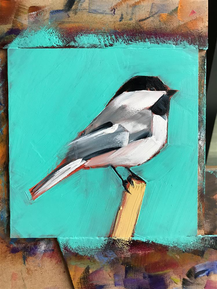 """Chickadee "" original fine art by Heiwa"