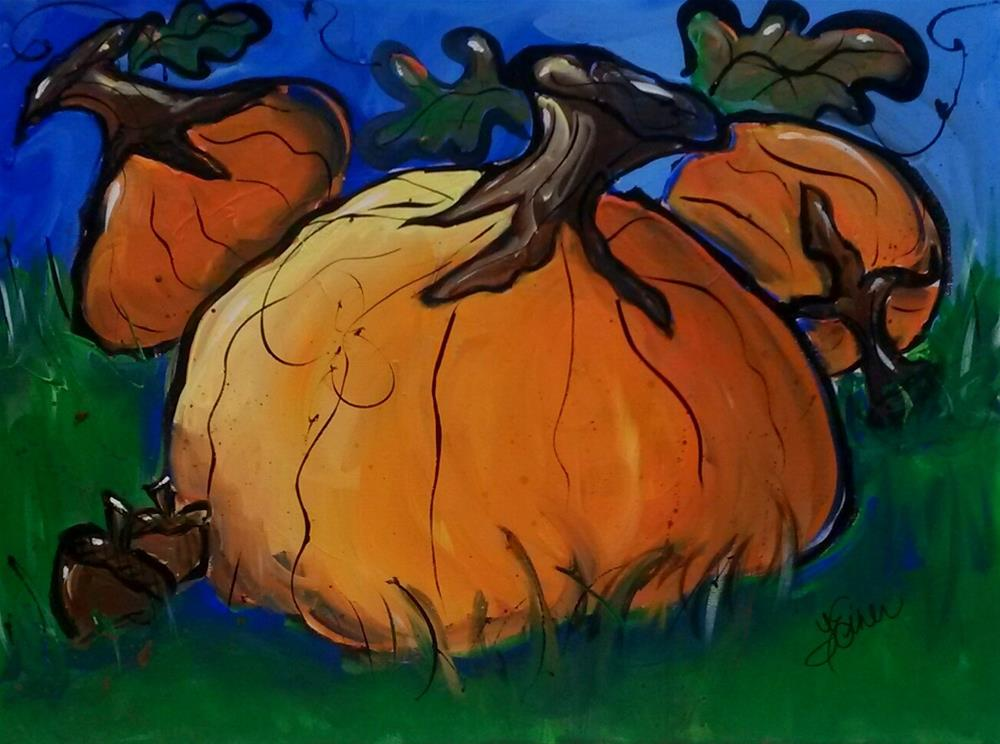 """The Great Pumpkin"" original fine art by Terri Einer"