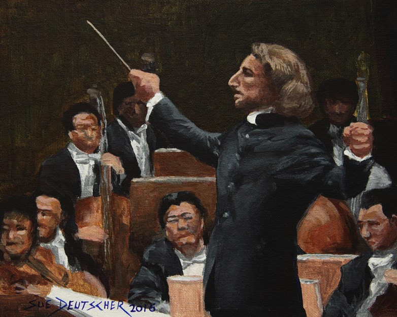 """The Conductor"" original fine art by Sue Deutscher"