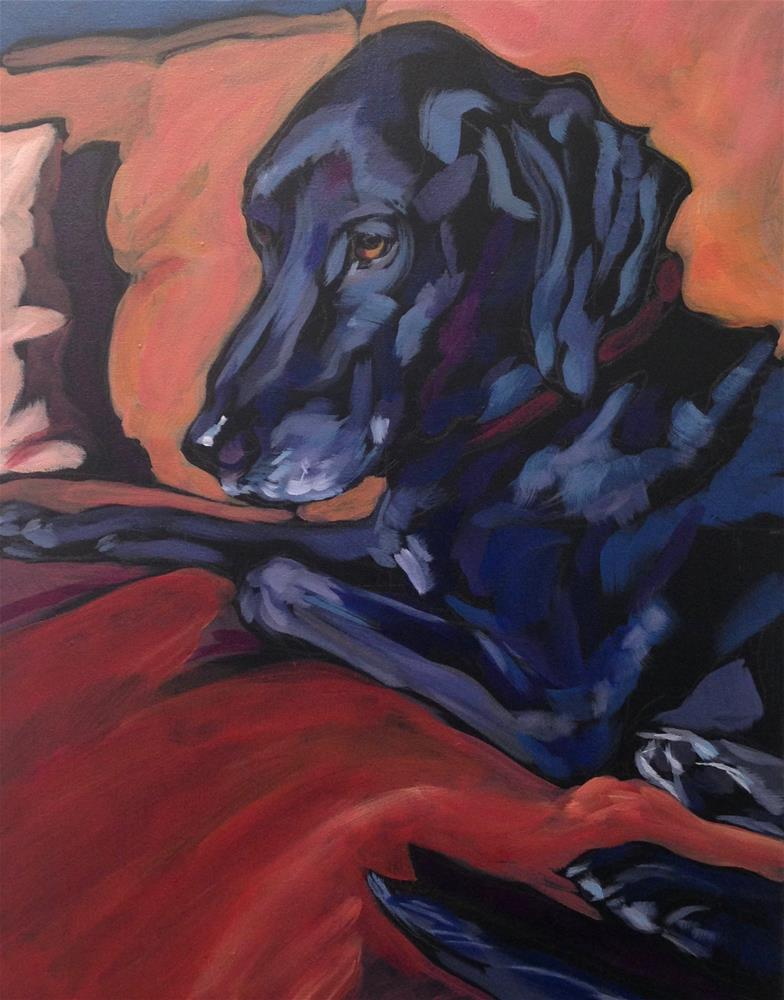 """Sunset Seat"" original fine art by Kat Corrigan"