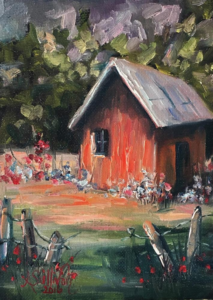 """Granny's Cottage landscape painting by Alabama Artist Angela Sullivan"" original fine art by Angela Sullivan"