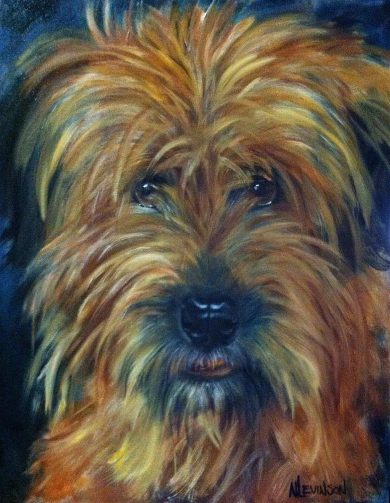 """Someone's best friend in Texas"" original fine art by Nancy Levinson"