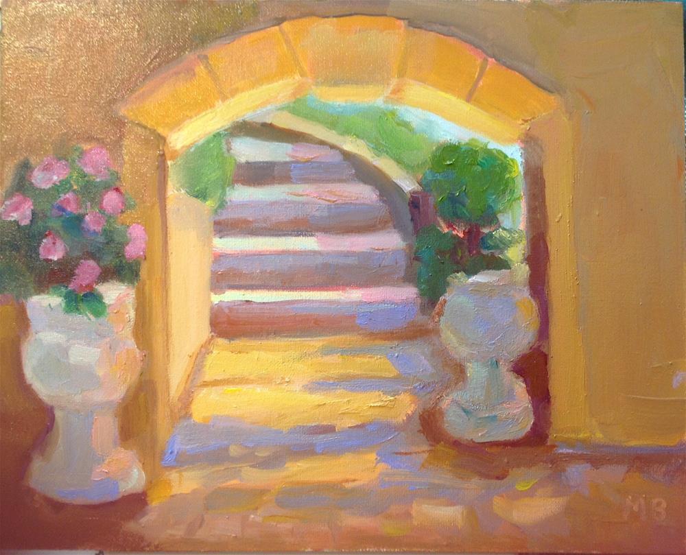 """Villa Steps"" original fine art by Marcia Bergtholdt"