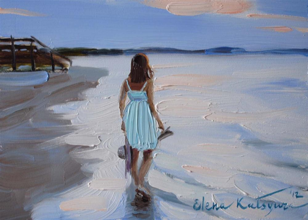 """Seashore"" original fine art by Elena Katsyura"