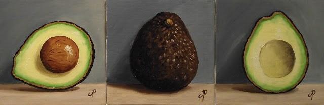 """Avocado! Whole, half & the other half"" original fine art by Jane Palmer"