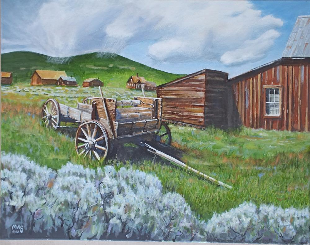 """Bodie Wagon"" original fine art by John F McGowan"