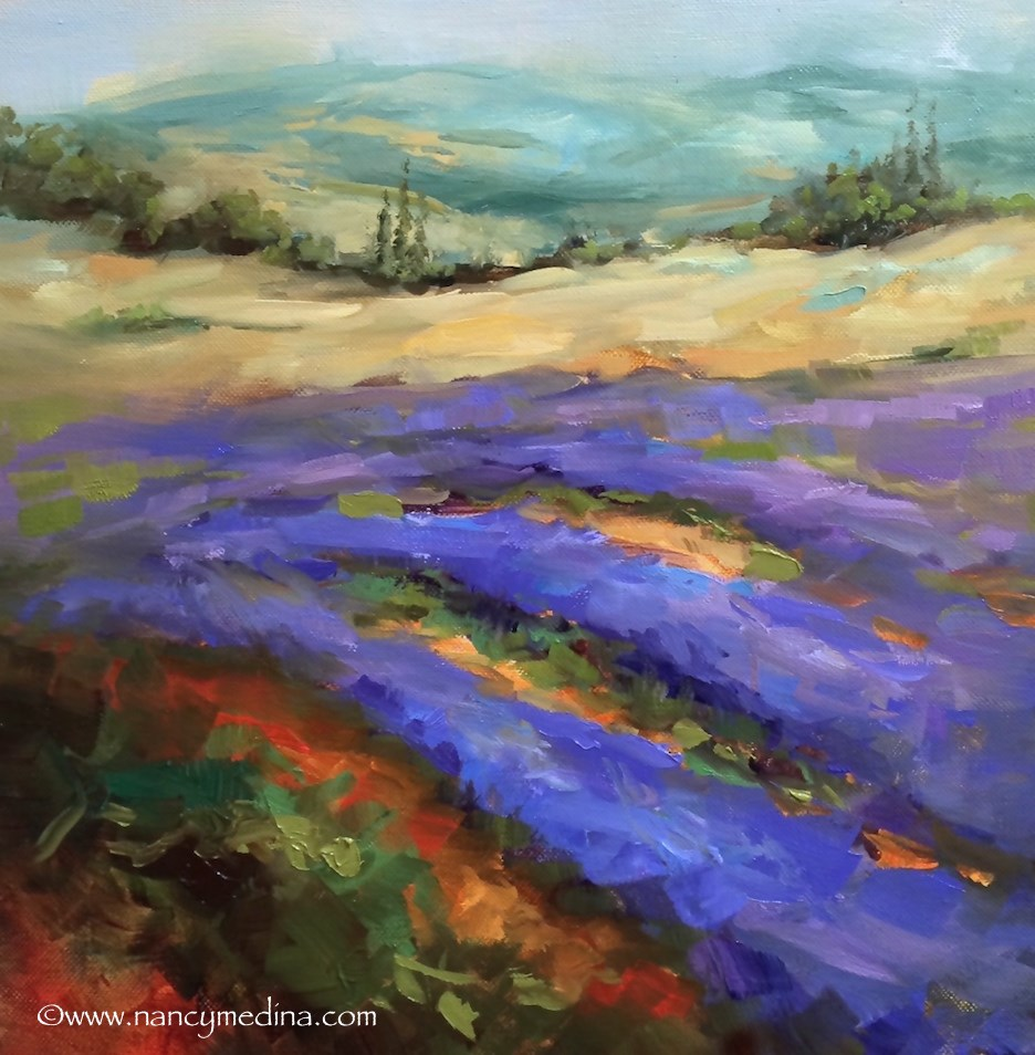 """Gone to Seed Lavender"" original fine art by Nancy Medina"