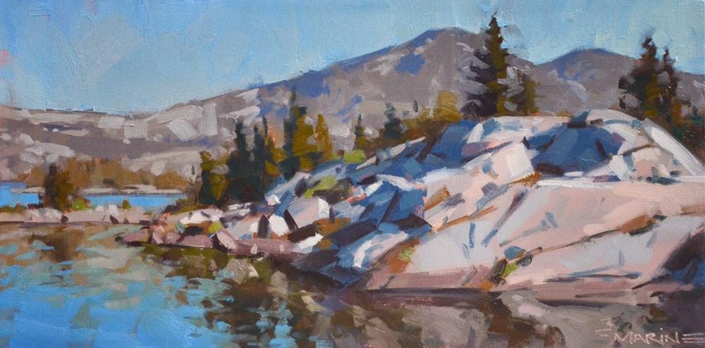 """Peninsula of Rocks"" original fine art by Carol Marine"