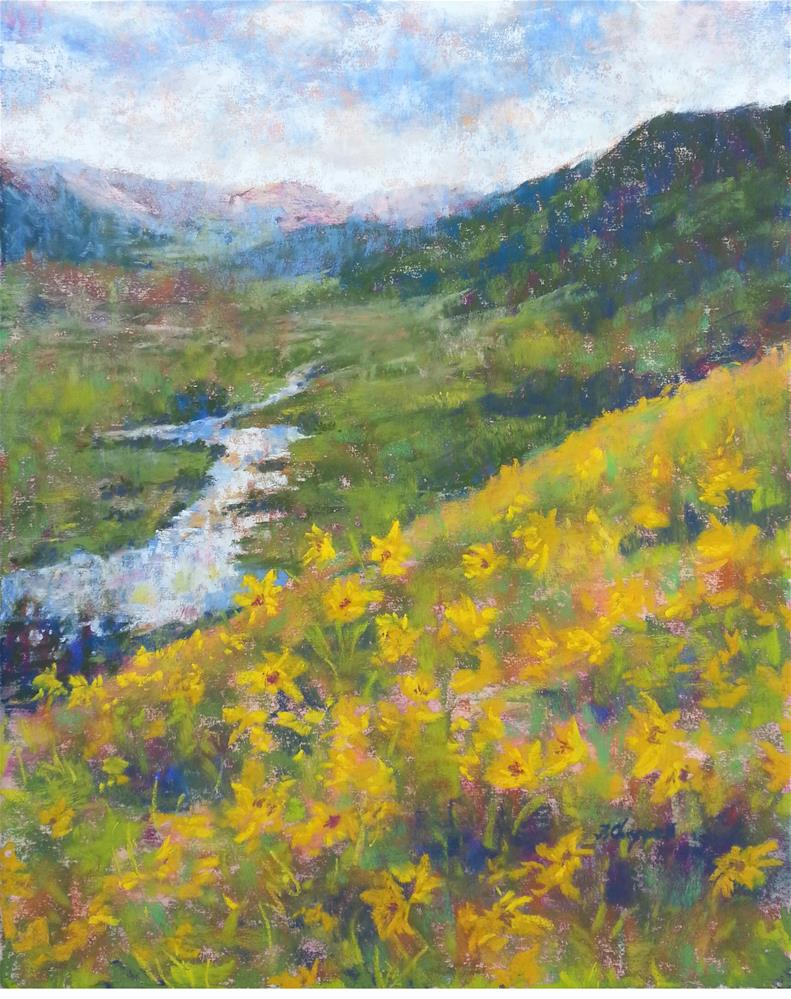 """View from Baxter's Gulch"" original fine art by Becky Chappell"