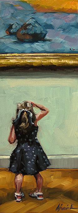 """Chin Up"" original fine art by Karin Jurick"