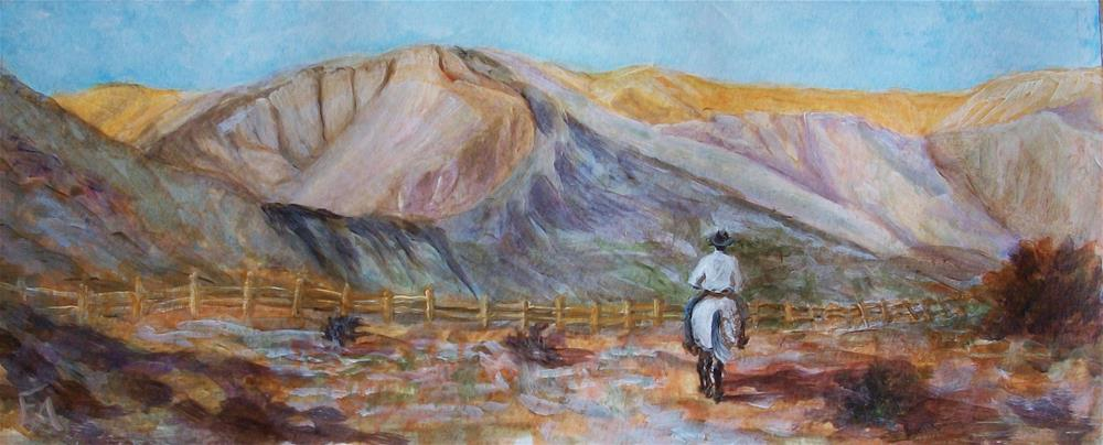 """Challenge Painting #3: Home on the Range"" original fine art by Elizabeth Elgin"