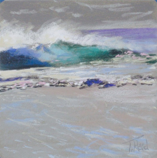 """Breaking Off Shore"" original fine art by Toby Reid"
