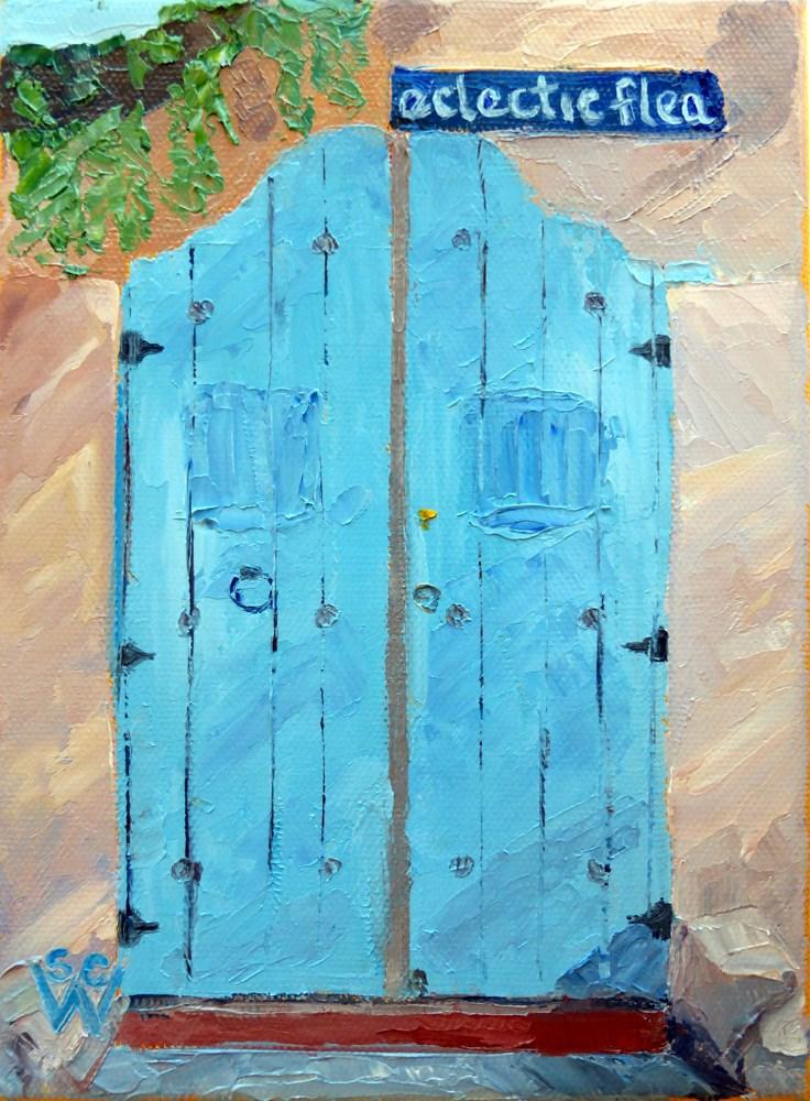 """The Eclectic Flea"" original fine art by Susan Woodward"
