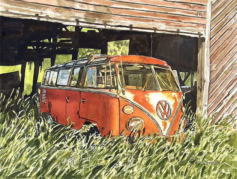 """23 Window Barn Find (Grammas Wheels)"" original fine art by Andy Sewell"